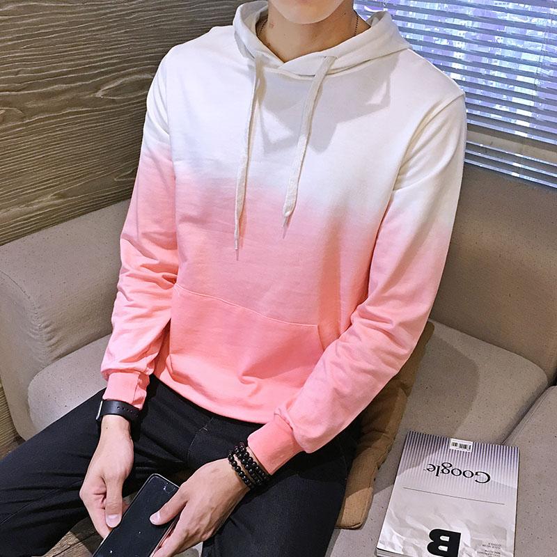 Diskon Versi Korea Dari Laki Laki Pullover Mahasiswa Kasual Mantel Sweater Merah Muda Baju Atasan Sweter Pria Tiongkok