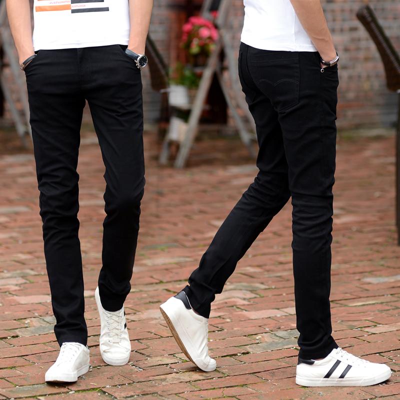 Review Versi Korea Dari Peregangan Slim Celana Kaki Celana Celana Kasual Hitam Other Di Tiongkok