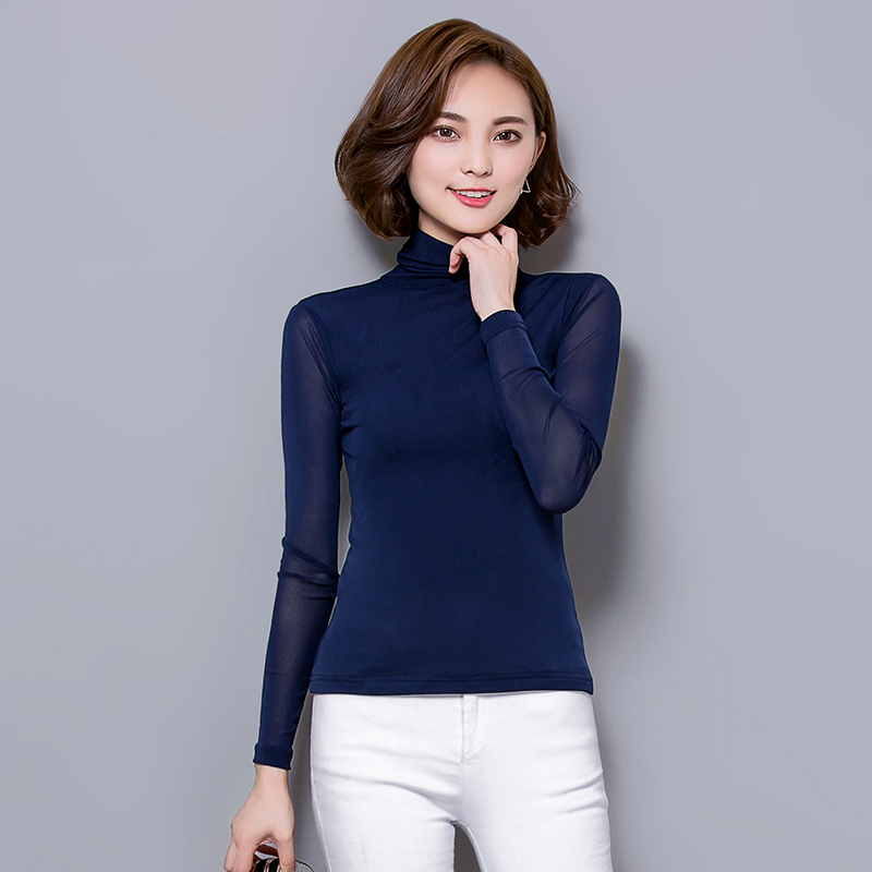 Jual Kaos Korea Fashion Style Warna Solid Musim Semi Baju Dalaman Sutra Es Anggur Merah Branded Murah