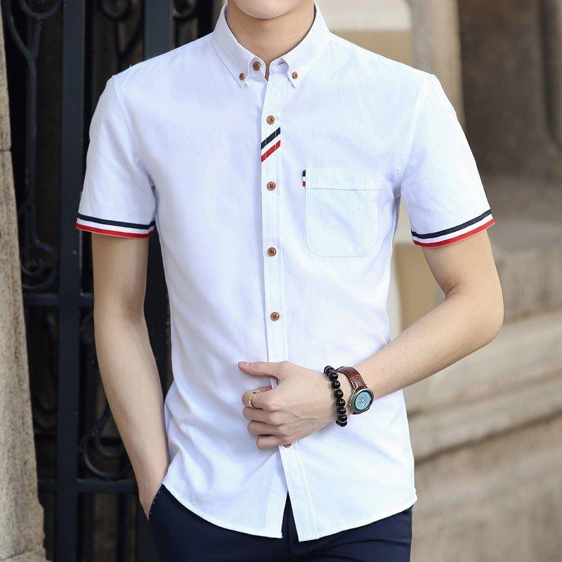 Harga Versi Korea Musim Panas Slim Putih Pria Kemeja Kasual Pria Kemeja Kb53 Putih Baju Atasan Kaos Pria Kemeja Pria Terbaik