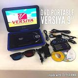 Jual Versiya Dvd Portable Led 9 8 3D Tv Game Portable Dvd Player Hitam