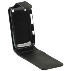 Vertical Flip Leather Case for BlackBerry Curve 9220 (Black)