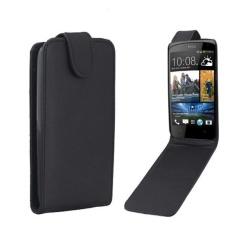 Vertikal Flip Magnetik Snap Leather Case untuk HTC Desire 500/506e (Hitam)-Intl