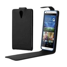 Vertikal Flip Magnetik Snap Leather Case untuk HTC Desire 620 (Hitam)-Intl