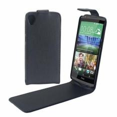 Vertikal Flip Magnetik Snap Leather Case untuk HTC DESIRE 820 (Hitam)-Intl