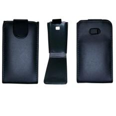 Vertical Flip Magnetic Snap Leather Case for LG Optimus L3 / E400(Black) - intl