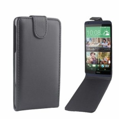 Vertikal Flip Magnetik Snap Leather Cover Case untuk HTC Desire 816 (Hitam)-Intl