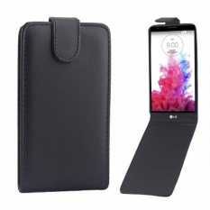 Vertikal Flip Magnetik Snap Leather Cover untuk LG G3/D855 (Hitam)-Intl