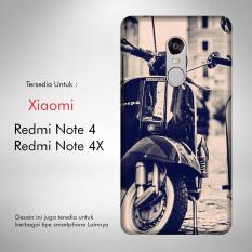 Vespa 6 Casing Custom Hardcase Fullprint Xiaomi Redmi Note 4 / 4X Case Cover