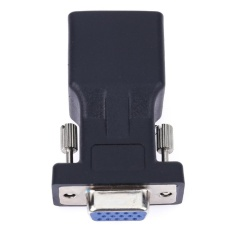 VGA Extender Female to LAN CAT5 CAT5E RJ45 Ethernet Female Adapter - intl