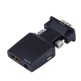Katalog Vga To Hdmi 1080P Converter Adapter Vga Hdmi Male To Female Video Audio Converter Box Adapter For Hdtv Dvd Pc Laptop Intl Terbaru