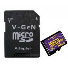 Jual Vgen Memory Card Micro Sd Class 10 16 Gb Adapter Branded