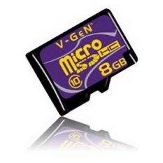 Jual Vgen Memory Card Micro Sd Class 10 8 Gb Adapter Online