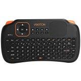 Promo Viboton S1 Semua Dalam Satu 2 4G Keyboard Mouse Nirkabel Ac Remote Kontrol With Komputer Bawah Touchpad For Tablet Kotak Proyektor Tv And Sebagainya Hitam Murah