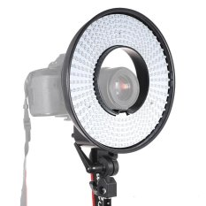 Video Fotografi Studio Ring Light Lampu Panel 300 CRI 95 + 5500 K Warna Suhu untuk DSLR Kamera Camcorder- INTL