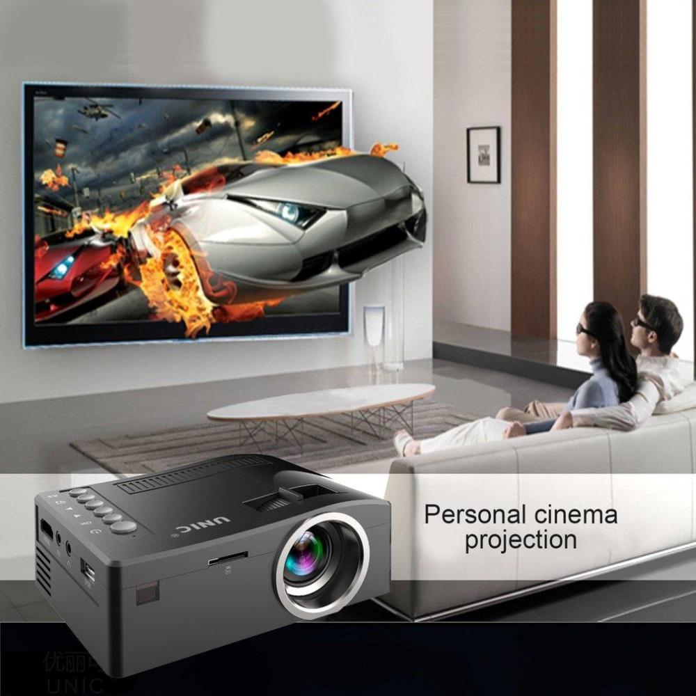 Video Yang BAGUS Proyektor UC18 1080 P HD Hiburan Rumah LCD Theater USB HDMI Proyek UNI EROPA-Internasional