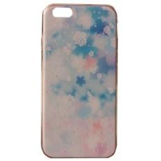 Viel_spass Phone Back Cover untuk IPhone 6 Plus Biru Bunga-Internasional