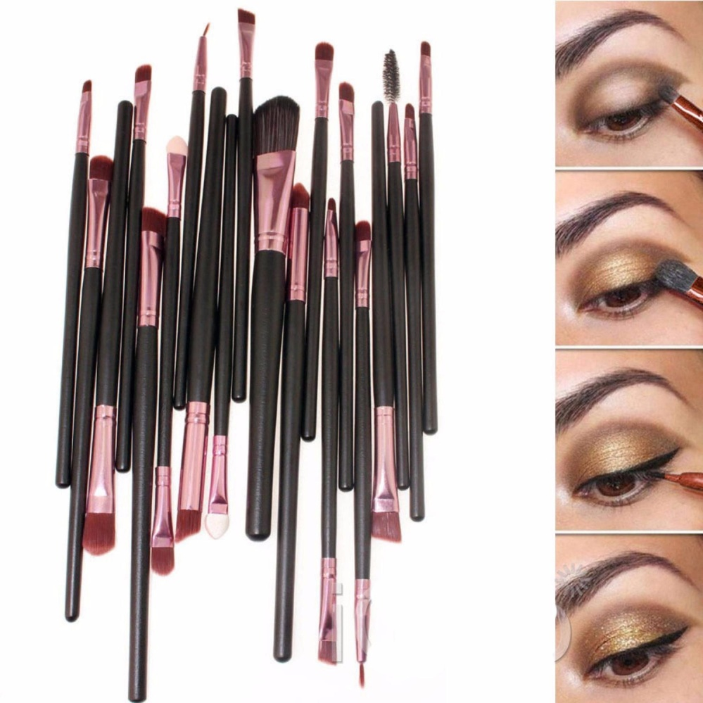 Spesifikasi Vienna Linz Kuas Make Up Uk Professional Cosmetic Brush 20 Set S9363 Black Pink Merk Vienna Linz