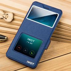"Lihat Jendela PU Case Penutup Kulit Flip untuk Xiaomi Redmi PRO 5.5 ""inci ( Biru"