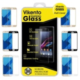 Beli Vikento Glass Tempered Glass For Samsung Galaxy S8 Full Hitam Anti Gores Kaca Screen Guard Screen Protector Pelindung Layar Hitam Cicilan