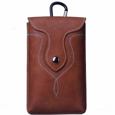 Vintage PU Leather Cell Phone Pouch Case With Belt Clip