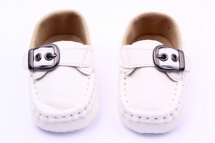 Vishine Mall-Cool Baby Sepatu Baru Balita Bayi Prewalker Buckle PU Leather Comfy Pelatih Crib Shoes-Intl
