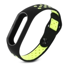 Diskon Vishine Mall Double Warna Ventilasi Gelang Tali Band Gelang Pengganti Untuk Mi Band 2 Smart Watch Intl Oem