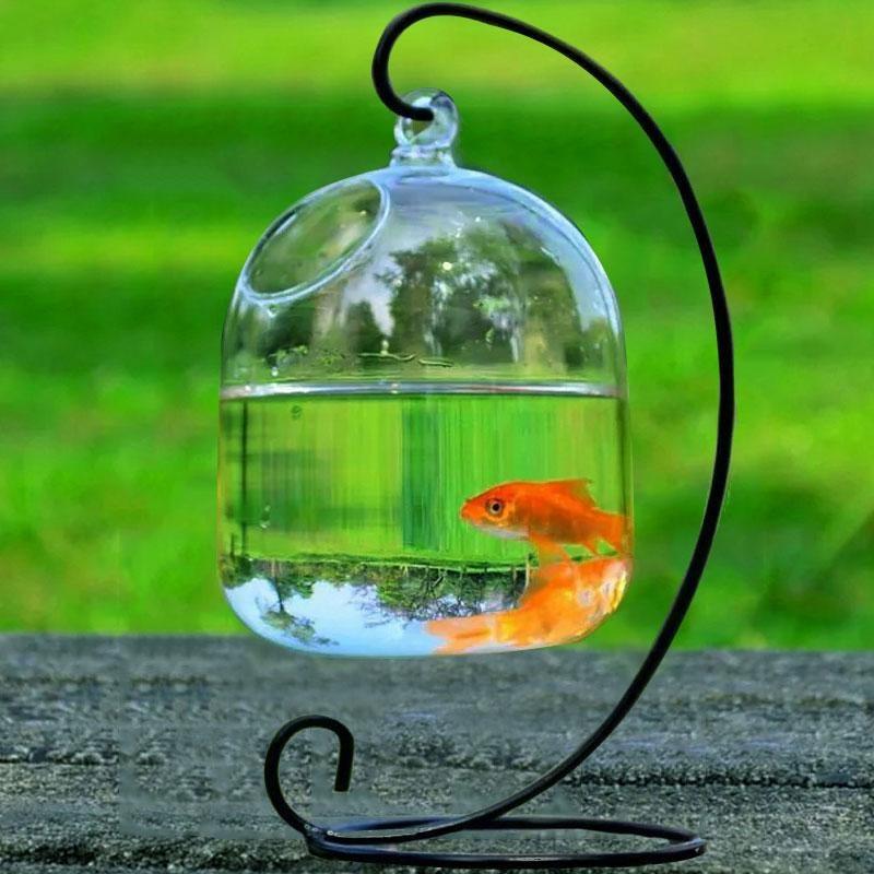 Rp 69.368. Vishine Mall-Hanging Vas Kaca Transparan Fishbowl Tangki Ikan Handmade Dekorasi Akuarium-InternasionalIDR69368