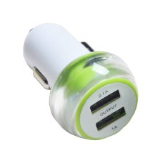 Jual Vivan Car Charger Robot Rt C06 2 Output 2 1A 1A Green White Online Indonesia