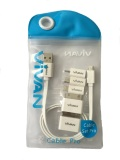Toko Vivan Charge Cable Set 5 Connections Tips White Online Jawa Timur