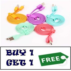 Vivan Data Cable Flat Micro USB for Android 100CM - BUY 1 GET 1