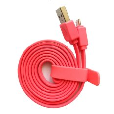 Vivan Data Cable Flat Micro USB for Android (CSM100) - Pink