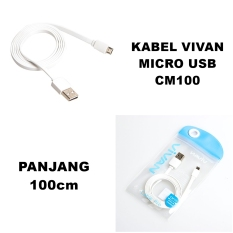 Vivan Kabel Data Micro Usb CM100 Original - Panjang 100cm