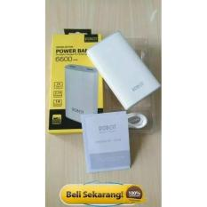 Spesifikasi Vivan Power Bank Robot Rt7100 6600Mah 2 Usb Ports Power Bank White Bagus