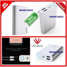Vivan Powerbank M10 Silver Kapasitas 10200mAh 2 Usb Port Original 100% ( barang bagus )
