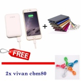 Spesifikasi Vivan Powerbank Robot Dual Rt7200 Fast Charging Powerbank Slim Free 2X Vivan Kabel Data Cbm80 White Yg Baik