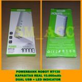 Jual Vivan Powerbank Robot Rt130 Kapasitas 10 000Mah Dual Usb Led Indicator Sm Acc Vivan Original