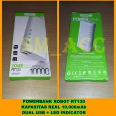Spesifikasi Vivan Powerbank Robot Rt130 Kapasitas 10 000Mah Dual Usb Led Indicator Sm Acc Baru
