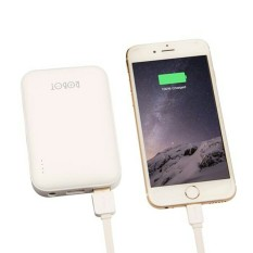 Jual Vivan Powerbank Robot Rt7200 Dual Output 2 1A Max 6600Mah Real Capacity With Usb Charger Vivan White Ori