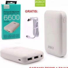 Vivan Robot Power Bank Powerbank RT7200 6600mAh