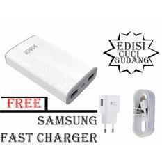 Vivan Robot RT7100 6600mAh 2 USB Ports Power Bank 100% Original+samsung fast charger 15W