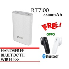 Jual Vivan Robot Rt7100 6600Mah 2 Usb Ports Power Bank White Bergaransi Resmi 1Tahun Free Oppo Bluetooh Wireless Mini Branded Original