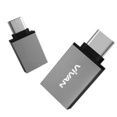 Jual Vivan Voc C01 Usb3 To Type C Metal Otg Adapter Gray Murah