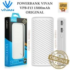Vivan VPB-F13 13000mAh 2 USB Ports 2.4A Power Bank - Putih