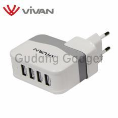 Beli Vivan Xc4S 4 Usb Ports Charger White Pakai Kartu Kredit