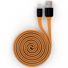 Review Vivan Yl100 1M Data Cable For Iphone 5 5S 6 6S Orange Vivan