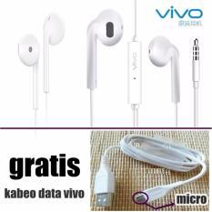 VIVO Original Handsfree XE680 For Vivo V5 / V5s / V5Plus + BONUS Kabel Data Vivo