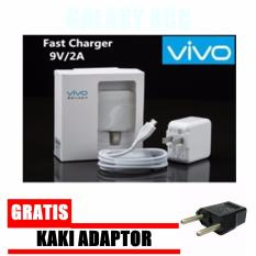 Vivo Travel Charger Adapter 2A With Cable Micro USB Original + Bonus Kaki Adaptor