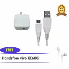 Spek Vivo Travel Charger Adapter 2A With Cable Original Putih Vivo Xe600I Earphones Headset Original Putih