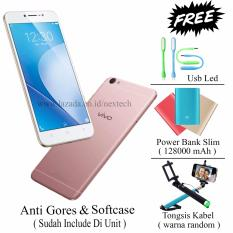 Vivo V5 Lite - Perfect Selfie - Ram 3GB - Rom 32GB - Free 3 item - Rose Gold